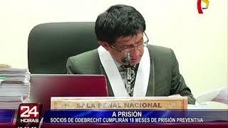 Dictan prisión preventiva para directivos de empresas socias de Odebrecht