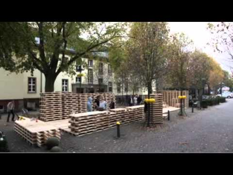 haus aus paletten msa m nster annual 2010 youtube. Black Bedroom Furniture Sets. Home Design Ideas
