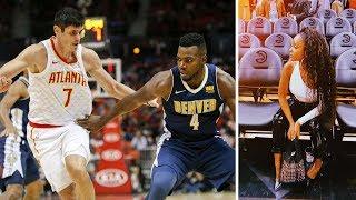 Vanessa Mdee na Rotimi walivyoshuhudia mchezo wa NBA kati ya Atlanta Hawks na Denver Nuggets