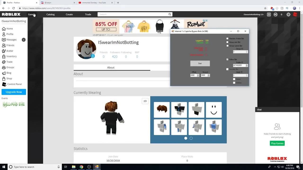 NEW (UPDATED) ROBLOX FOLLOWER BOT! (GROUPS.GAMES.FAVOURITES.FOLLOWES) - YouTube