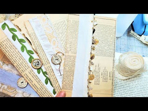 EASY No-Draw Mixed Media COLLAGE Background from VINTAGE BOOK PAGES! from YouTube · Duration:  41 minutes 36 seconds