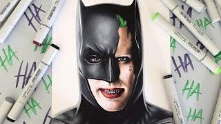 Drawing The Joker in Batman