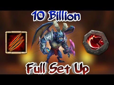 Summons Monster Area Damage | 10 Billion | Full Set Up | Top Rank | Castle Clash