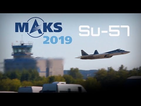MAKS 2019 ✈️ Su-57 Fast, Agile Flight Display!! - HD 50fps