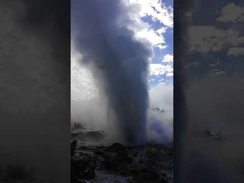 Steamboat Geyser major eruption June 4, 2018