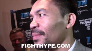"""MANNY PACQUIAO LAUGHS AT JESSIE VARGAS REVENGE TALK; TELLS HIM """"THIS IS NOT A MOVIE"""""""