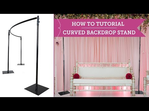 How To: Set Up a Curved Backdrop Stand | BalsaCircle.com