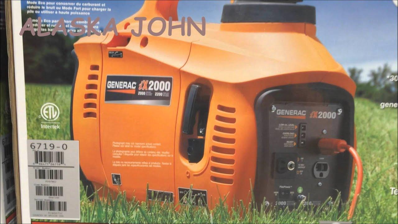 Generac 5793 iX2000 2 000 Watt 126cc 4 Stroke OHV Gas Powered