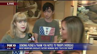 Fudge for Troops - Fox 10 Phoenix and Rocky Mountain Chocolate Factory