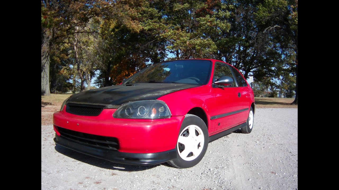 1996 honda civic hatchback review spinning wheel youtube for 1996 honda civic hatchback