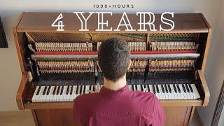 4 YEARS PIANO PROGRESS SELF TAUGHT