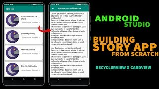 Make a Story App From Scratch | Android Studio Project Using RecyclerView