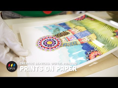 Creative Services: Digital Printing - Prints on Paper