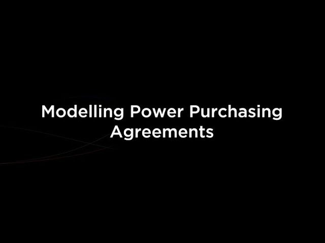 Modelling Power Purchasing Agreements