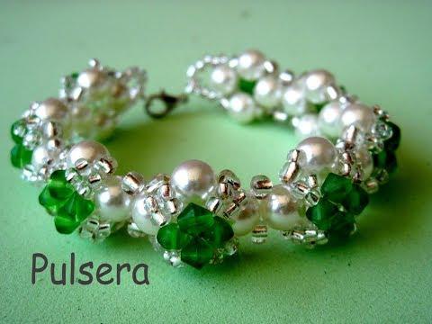 #  DIY - Pulsera fácil de perlas, tupis y mostacillas Easy bracelet with pearls
