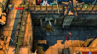 LEGO Batman 2 DC Super Heroes 100% Guide - Arkham Asylum Antics (All Minikits, Citizen in Peril)