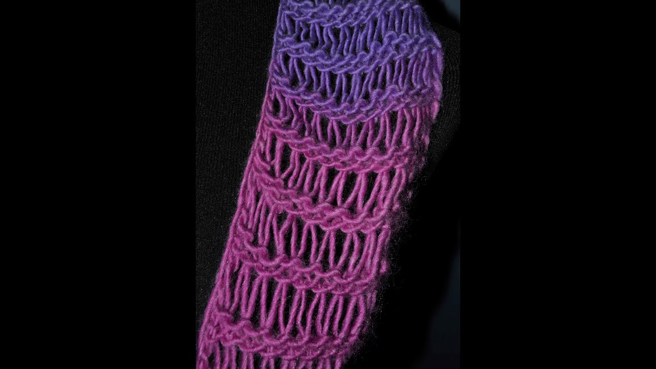 Loom Knit Extra Elongated Knit Drop Stitch Sequence - YouTube