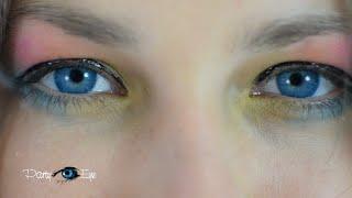 Niebieskie soczewki kolorowe PartyEye D AQUA / Aqua Blue Color Contact Lenses