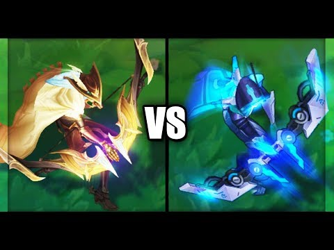 High Noon Ashe vs PROJECT Ashe Legendary Skins Comparison (League of Legends)