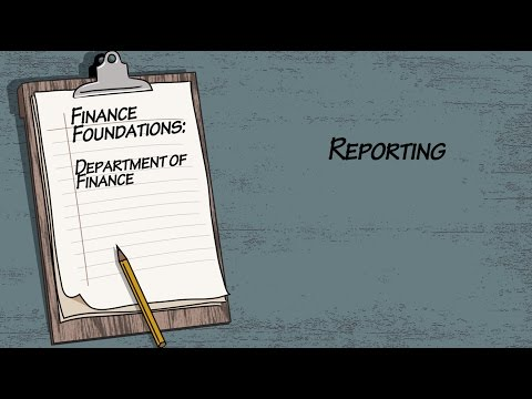Finance Foundations Department of Finance - Reporting