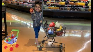 Sally Play Grocery Shopping at Food Store for kids