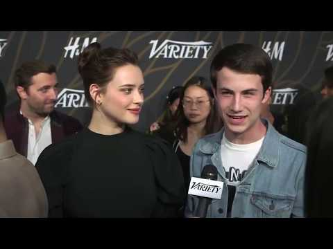 Katherine Langford and Dylan Minnette at the Variety Power of Young Hollywood event
