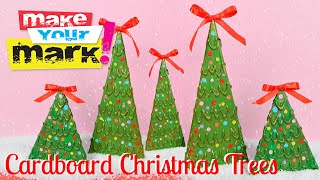 How To: Cardboard Christmas Trees