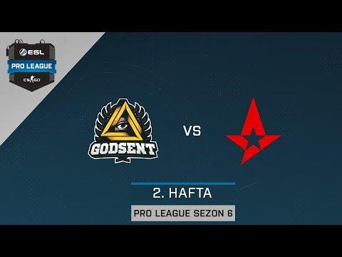 CS:GO - Astralis vs GODSENT [Mirage] - ESL Pro League Sezon 6
