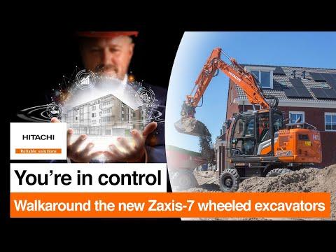Walkaround the new Zaxis-7 wheeled excavators