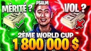 🔥 PSALM 2èm World Cup = 1,8 millions $ : MÉRITÉ OU VOL selon vous? Sa Stratégie Secrète !