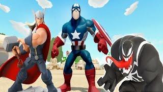 Kaptan Amerika Thor ve Venom Birbirinden Güzel Oyun Alanlarında (Disney infinity 3.0)