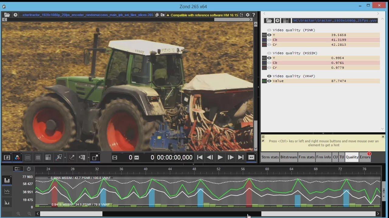 Zond 265 - HEVC/H 265 Video Analyzer / Solveig Multimedia