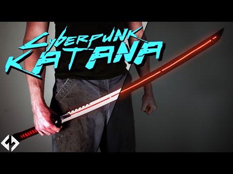 Forging a GLOWING KATANA (Cyberpunk Katana v1.0)