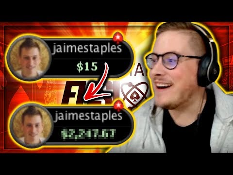 TURNING  INTO HOW MUCH???? - BRAND NEW FUSION CASH POKER!! PokerStaples Stream Highlights