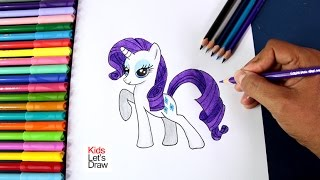 Cómo dibujar a Rarity | Drawing Rarity (My Little Pony)