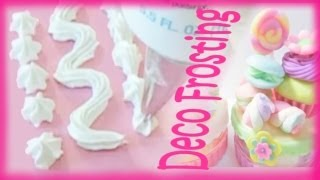 Japanese Sweet Deco Whip Cream Frosting Tutorial