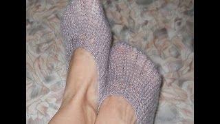 Следки Простейшие на 2 спицах - Knitting needles 2 socks (sneakers)