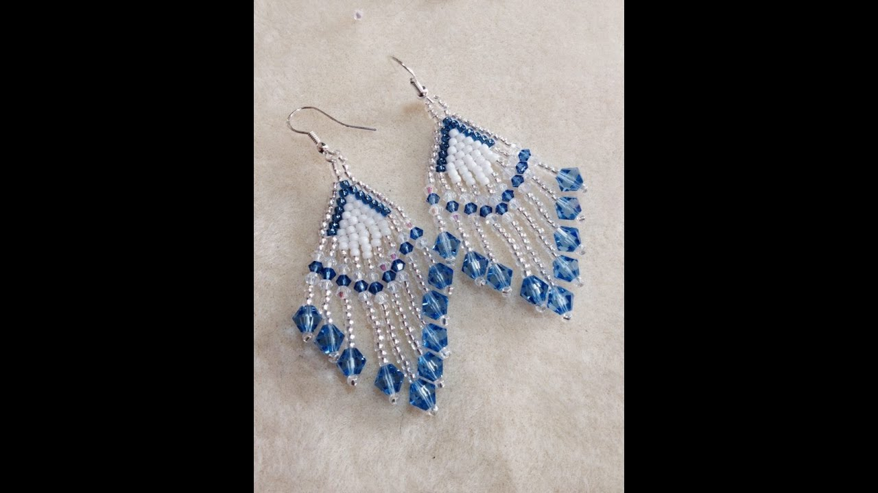 Tutorial Crystal Feather Earrings Video 64 Youtube