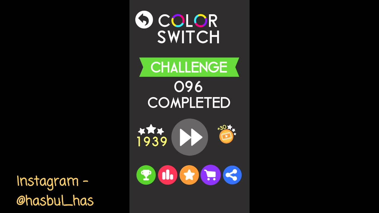 color switch  level 92 - 100   challenge mode