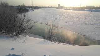 Зимняя рыбалка на озере Март 2021 год