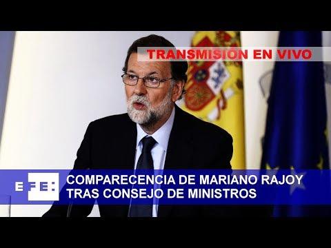 Comparecencia del presidente Rajoy tras reunión del Consejo de Ministros