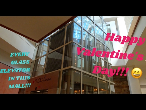 Winter 2017 Bellevue Square Glass Elevator GAUNTLET!!! 60 Frames Per Second!!!