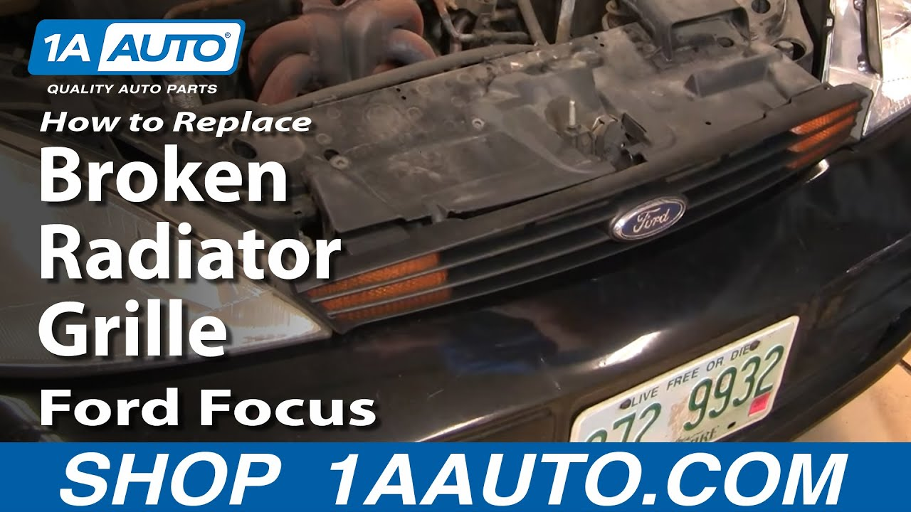 How To Replace Install Remove Broken Radiator Grille Ford