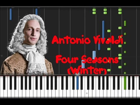 Vivaldi - Four Seasons (Winter) Synthesia Tutorial