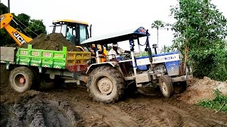 Swaraj 744 FE Tractor with fully loaded trolley  Swaraj 744 tractor power   CFV  