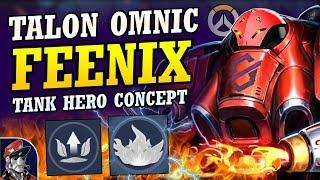 Overwatch - New OMNIC FIRE HERO Tank Concept!  Talon Tank New Hero Abilities, Ultimate, & MORE!