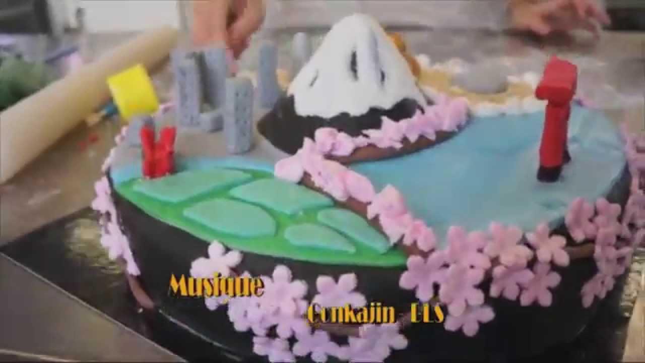 Paint Cakes Gâteau Sur Le Thème Du Japon Youtube