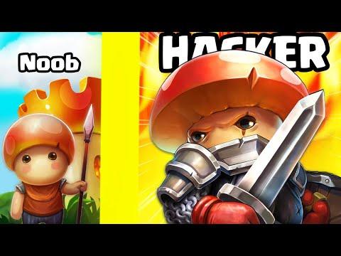 Can we go NOOB vs. HACKER MUSHROOM ARMY? (Mushroom Wars 2 MAX LEVEL) |