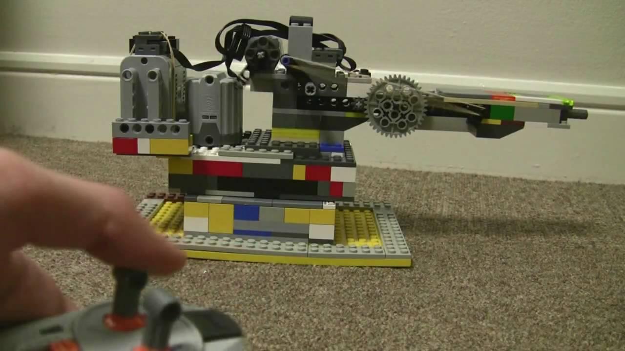 Lego Remote Control Turret Youtube