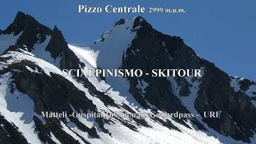 Pizzo Centrale 2999m.u.m.  Scialpinismo Skitour San Gottardo Uri